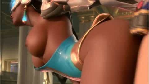 Overwatch Hentaiporn Symmetra drilled doggystyle fuck