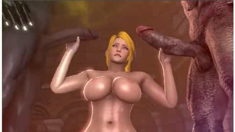 Sexy Samus Aran Sex Nightmare Metroid Fucked by Alien Demons